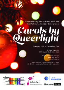Carols by Queerlight 2015 Poster
